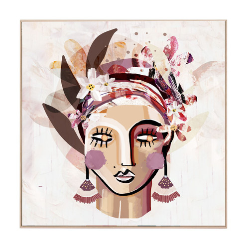 Kelburn Ruby | Oak Frame | Print Decor