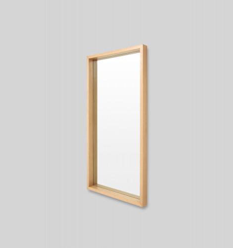 Light Wood Leaner Mirror