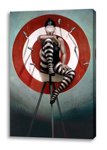Print Decor | Gill Del Mace | The Knife Thrower III | Canvas Print