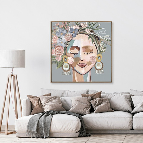 Cosmo Sage | Framed Canvas Print | Print Decor