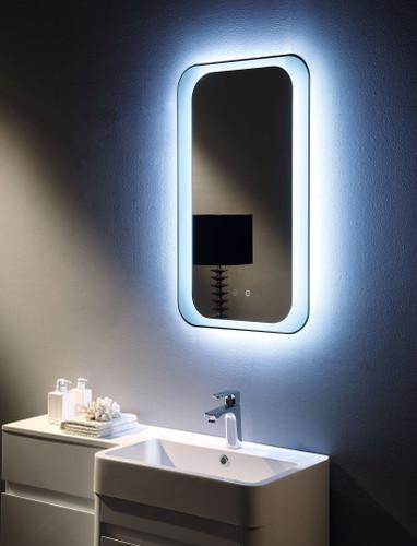 Curved Illuminated Mirror    Vertical