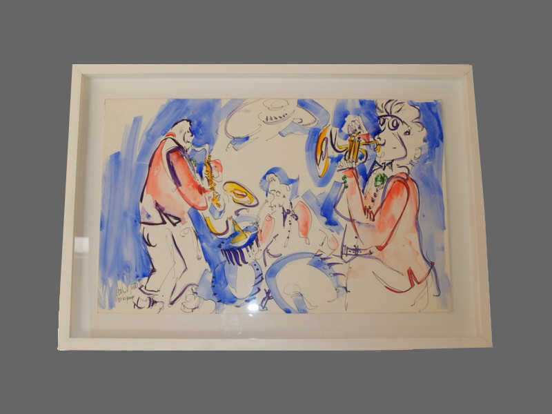 Modern framing style, white box frame