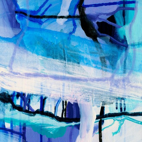 Violet Viscosity by abstract modern Melbourne artist at Print Decor
