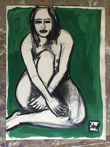 Nude Sketch   Modern Art   Print Decor Malvern