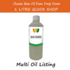 1 litre Base/Carrier Massage Oil - Choose Variety