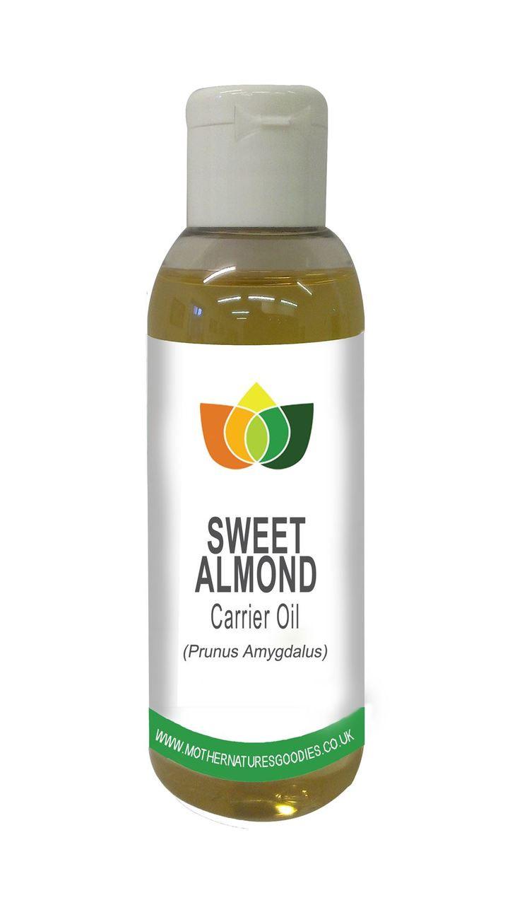 SWEET ALMOND OIL (Prunus Dulcis) Vegan Cold Pressed, Cosmetic & Food Grade Oil Refined