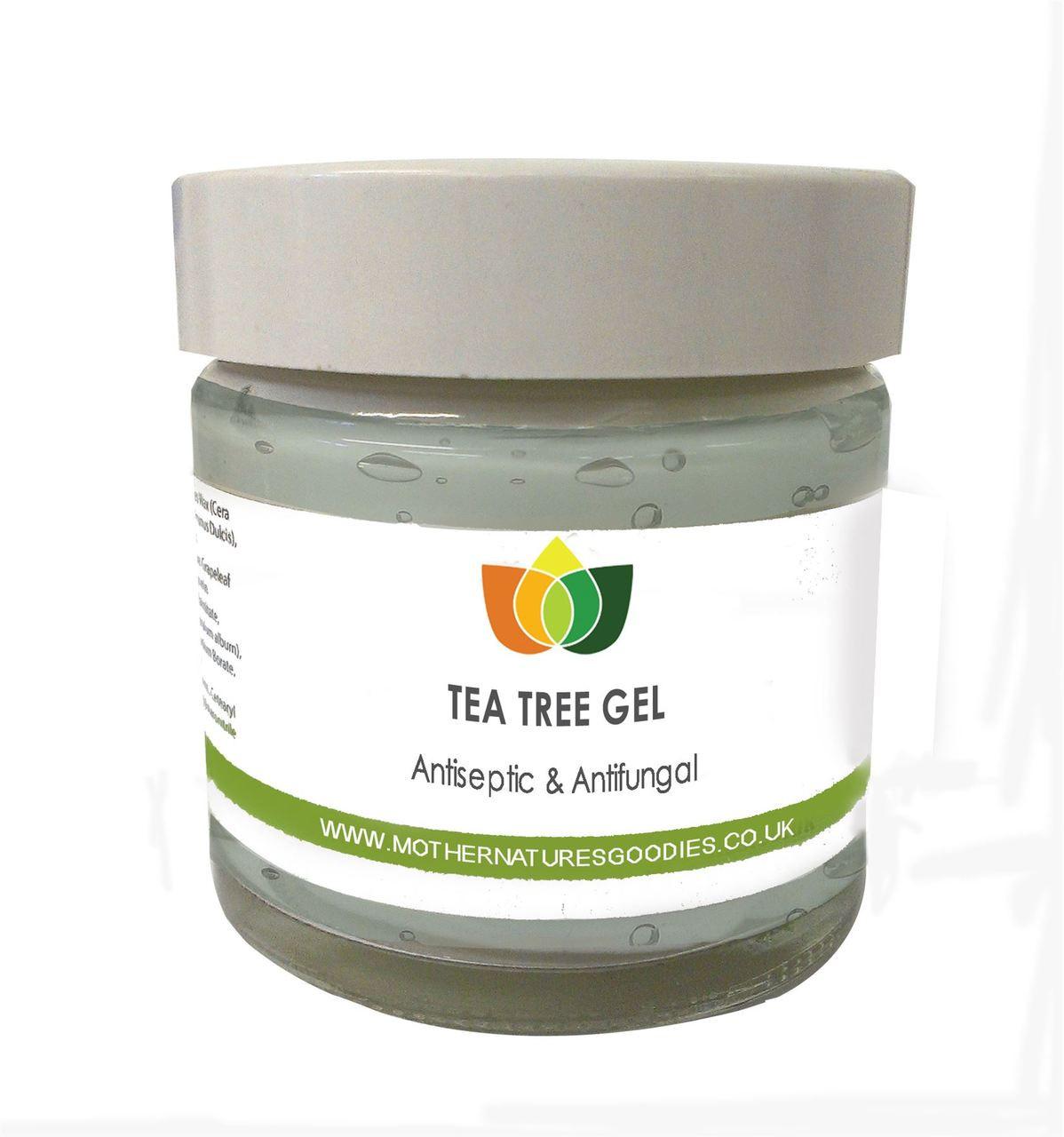 Natural Tea Tree Gel Anti-Fungal Anti-Bacterial. Multiple Sizes