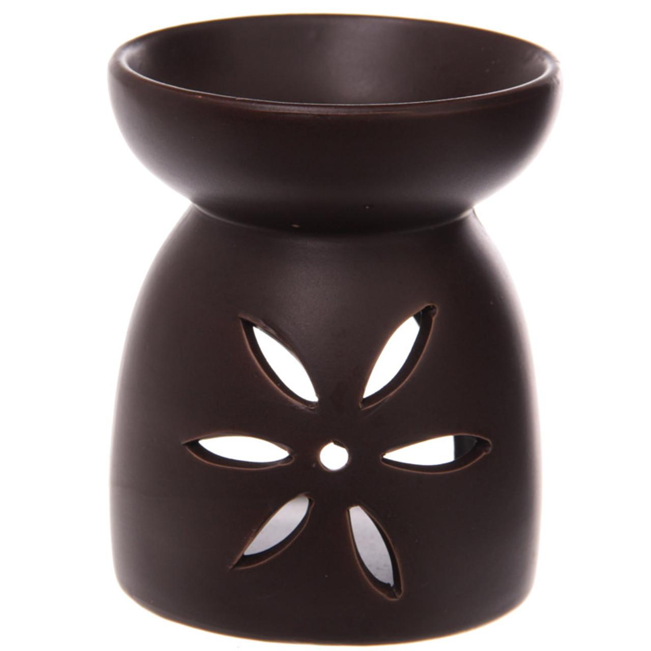 Large Ceramic Premium Oil Burner With Flower Fretwork