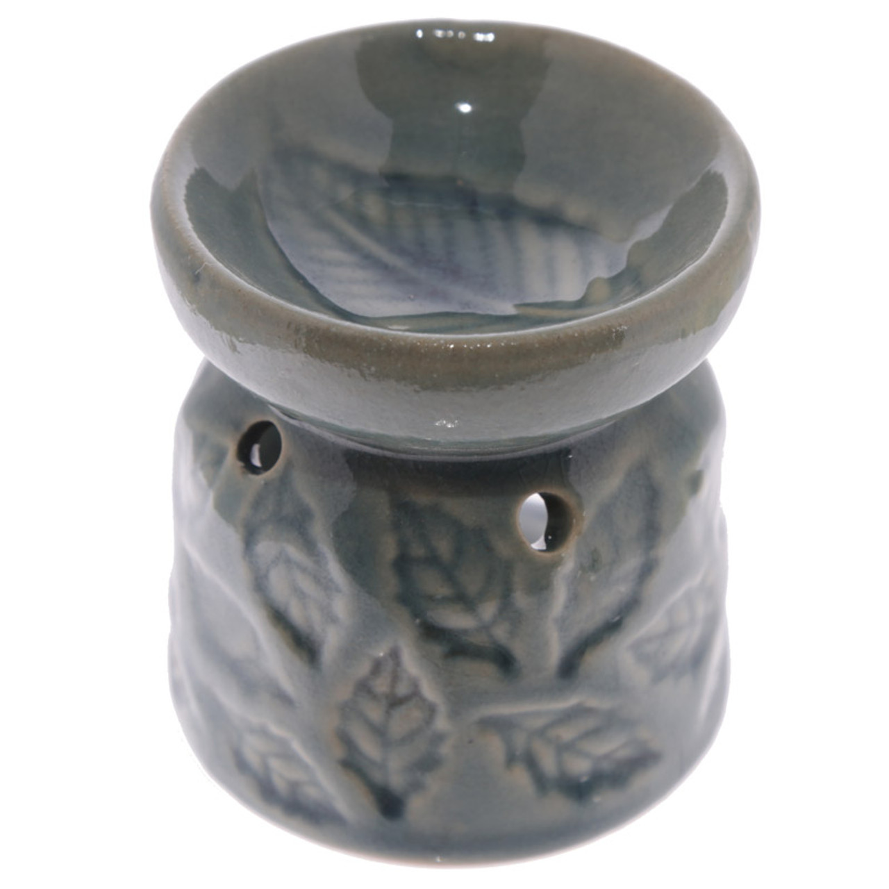 Oil Burner Ceramic Eden with Leaves Pattern