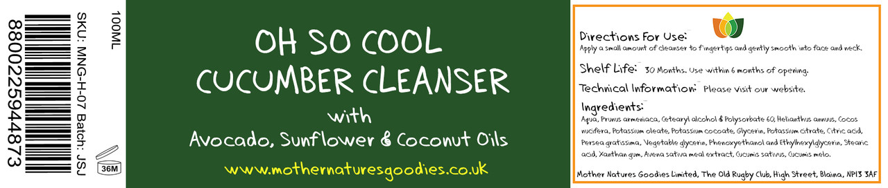 OH SO COOL CUCUMBER CLEANSER 100ML