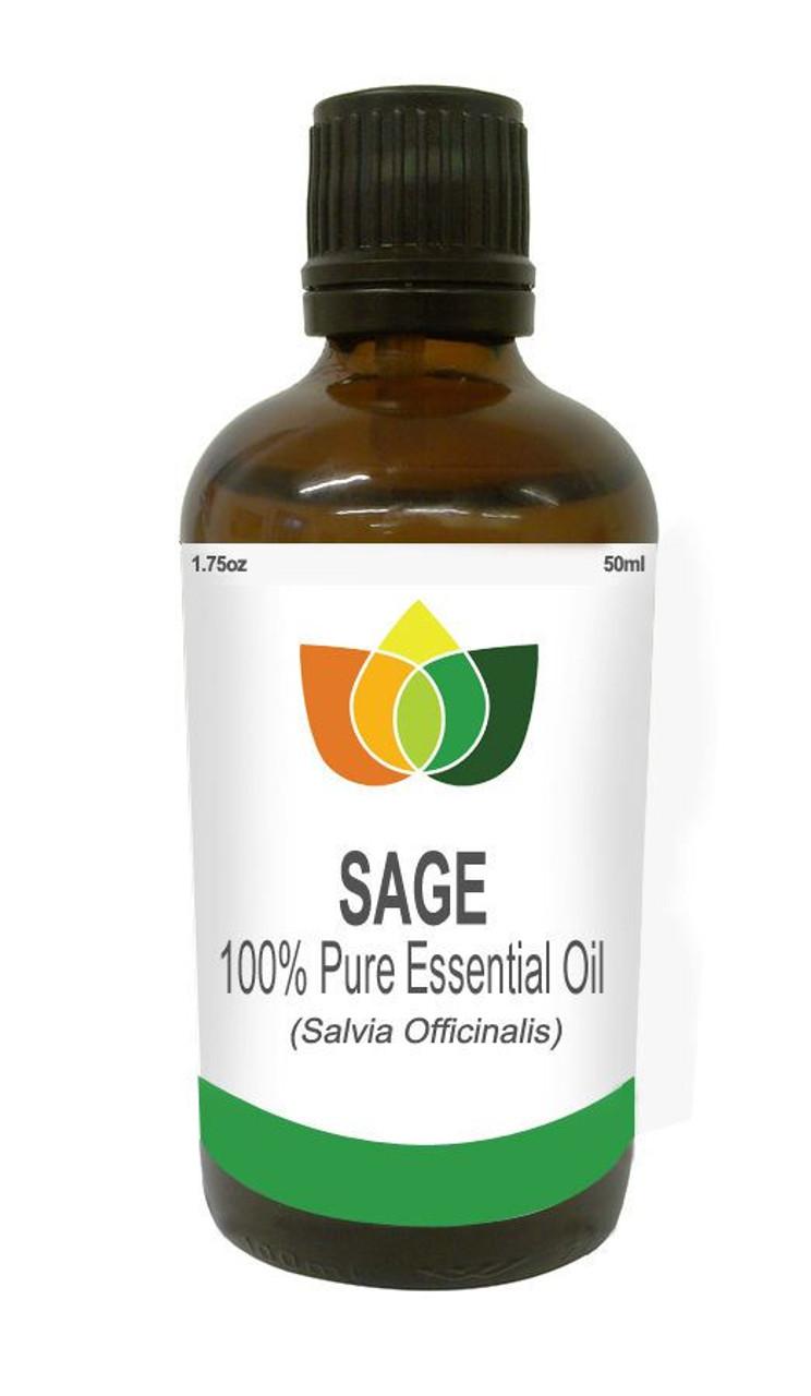Sage White Essential Oil Pure, Natural, Vegan Salvia Officinalis