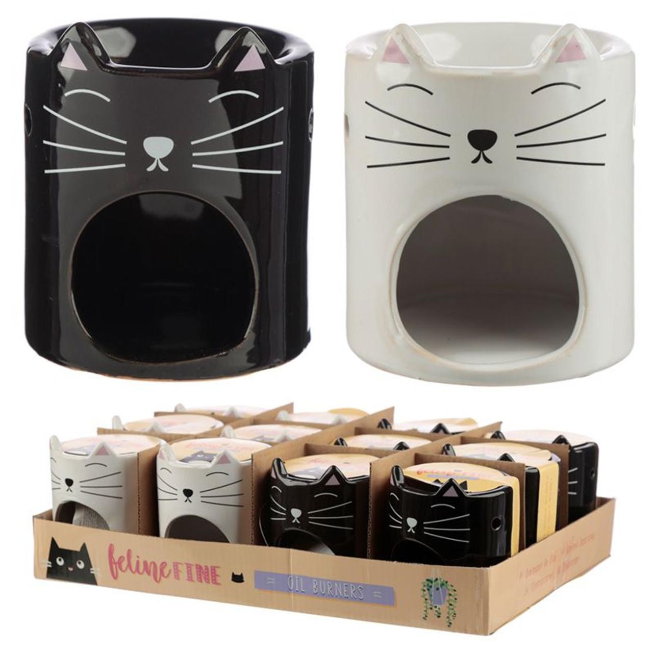 FELINE FINE CERAMIC CAT HEAD OIL BURNER