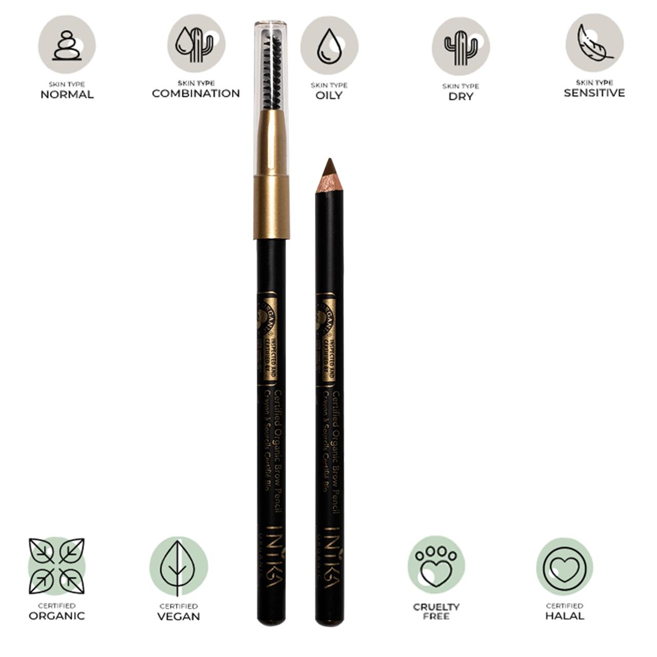 Certified Organic Brow Pencil (Brunette Beauty) 1.2g