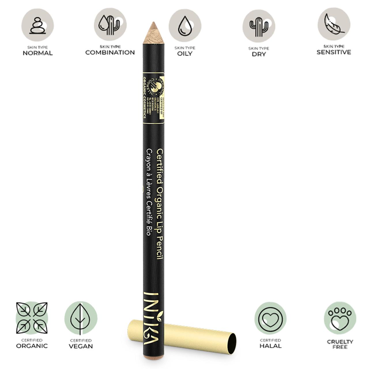 Certified Organic Lip Pencil (Nude Delight) 1.2g