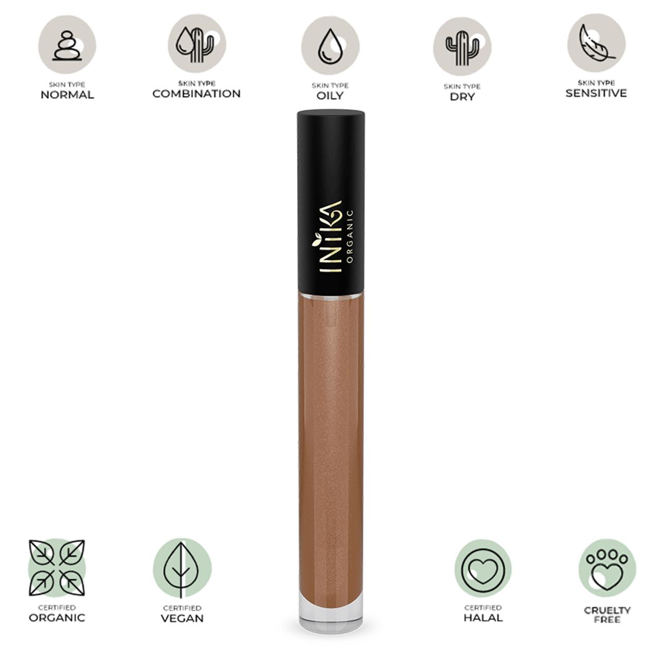 Certified Organic Lip Glaze (Cappuccino) 5ml