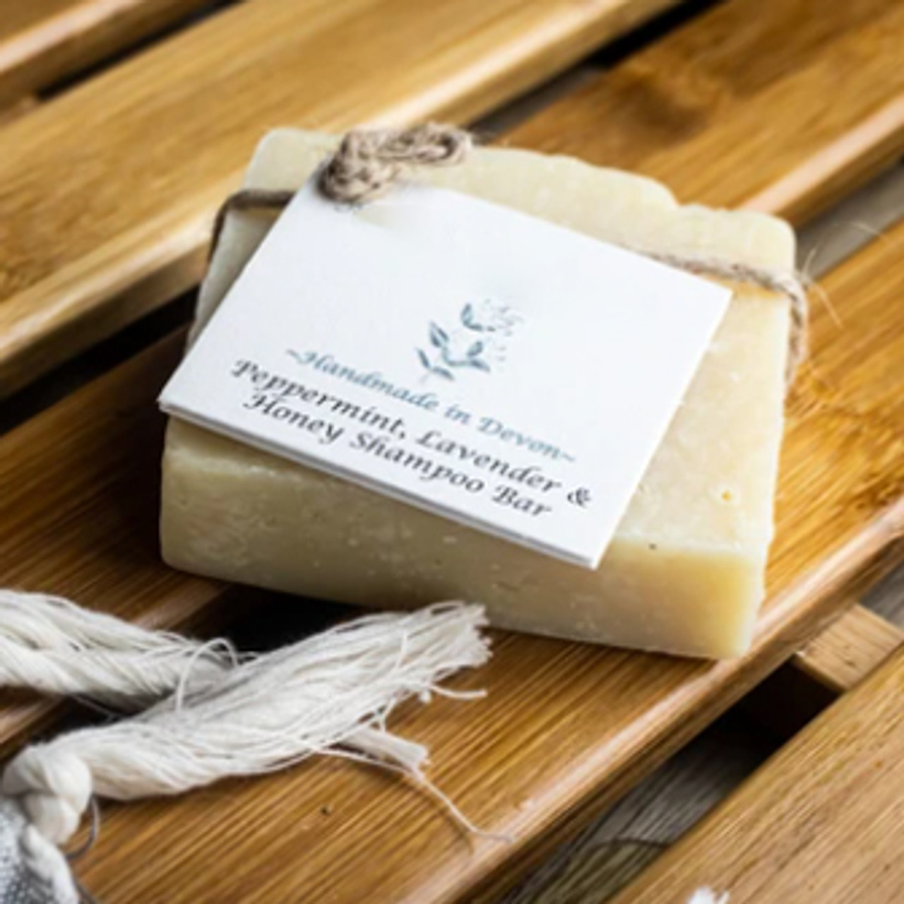 Peppermint, Lavender & Honey Natural Solid Shampoo for All Hair types.