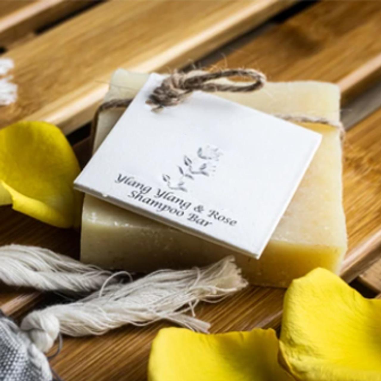 Ylang Ylang & Rose Natural Solid Shampoo for All Hair types.
