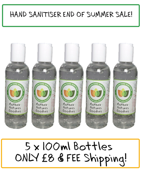 100ML Hand Sanitiser With Tea Tree and Aloe Vera pack of 5 - End of Summer Sale!