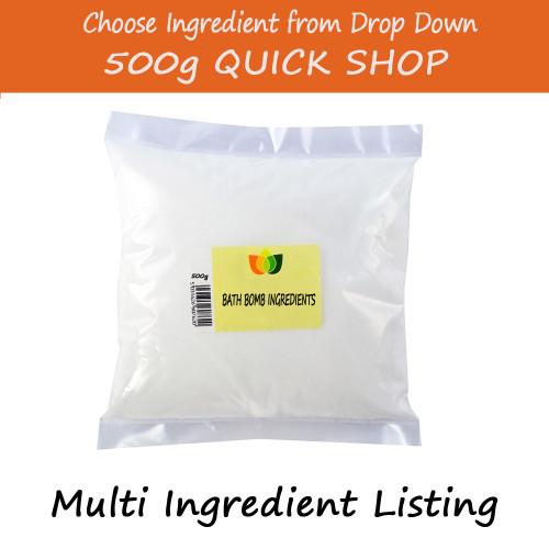 500g Bath Bomb Ingredients - Epsoms/Dead Sea Salt/Citric Acid/Sodium Bicarbonate/ Pink Himalayan Salts