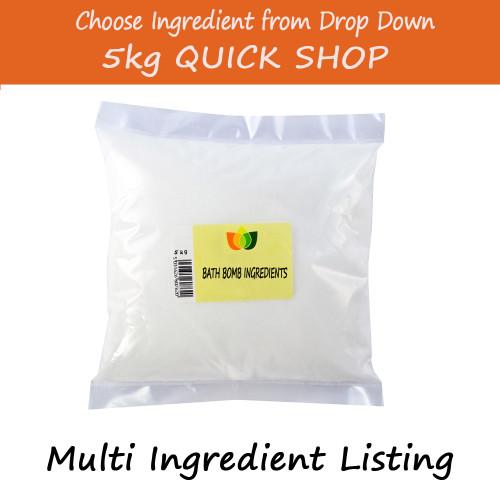 5kg Bath Bomb Ingredients - Epsoms/Dead Sea Salt/Citric Acid/Sodium Bicarbonate/ Pink Himalayan Salts