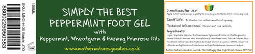 SIMPLY THE BEST PEPPERMINT FOOT GEL 100ML