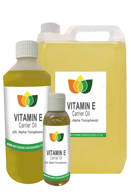 VITAMIN E MASSAGE OIL - Cold Pressed (Carrier Base Aromatherapy)