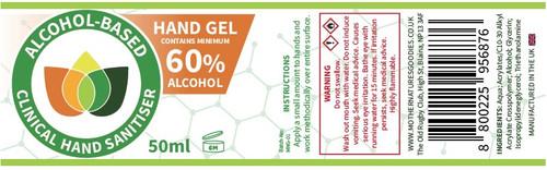 Hand Sanitiser Gel. Alcohol Based Single Bottle Minimum 60%+ Alcohol Pump Spray