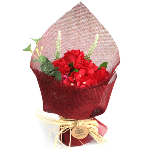 SOAP FLOWER BOUQUETS (RED)