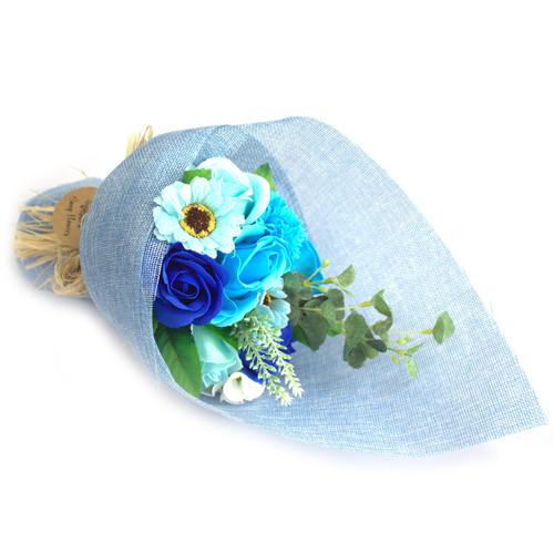 SOAP FLOWER BOUQUETS (BLUE)