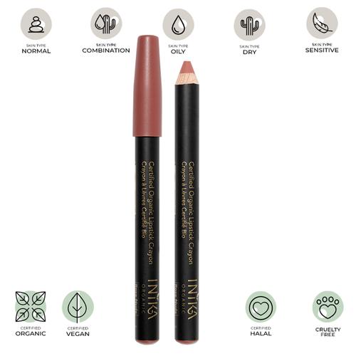 Certified Organic Lipstick Crayon (Rose Nude) 3g