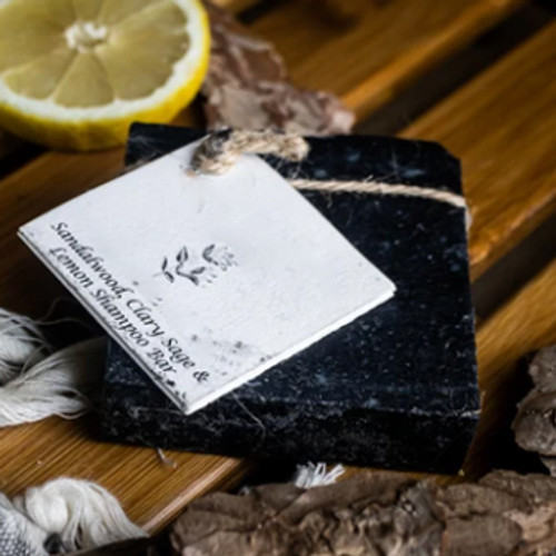 Sandalwood Clary Sage & Lemon Natural Solid Shampoo for All Hair types.