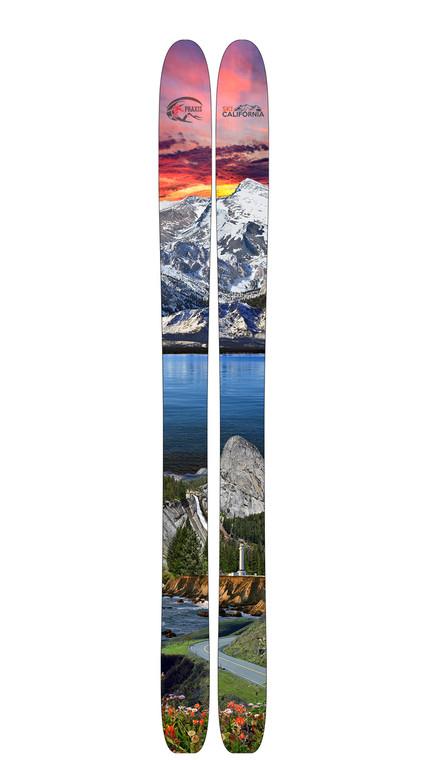 Ski California  Limited Edition Custom Ski