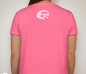 Praxis Skiercrafted Ladies T-shirt — Safety Pink
