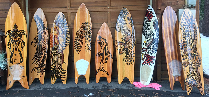 Image of Tahoe Native Surfboards handmade by Craig Beck