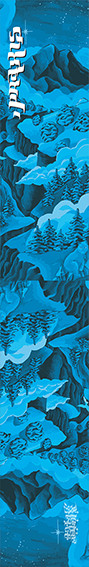 Blue Gorge ski graphic