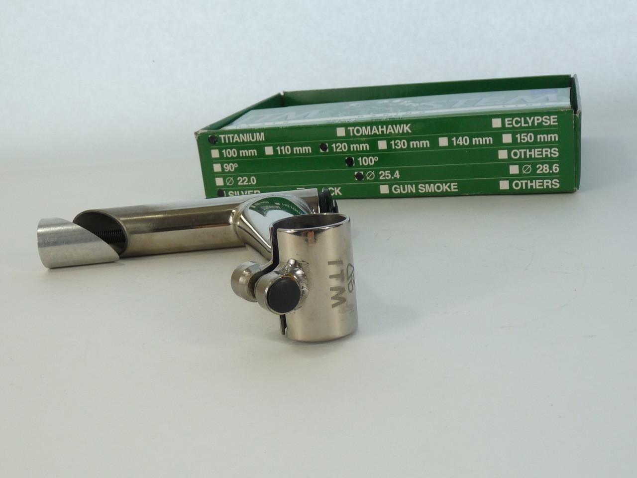 "130mm TI-MAT NOS 25,4 Clamp Vintage ITM ECLYPSE STEM 1""//22,2mm"