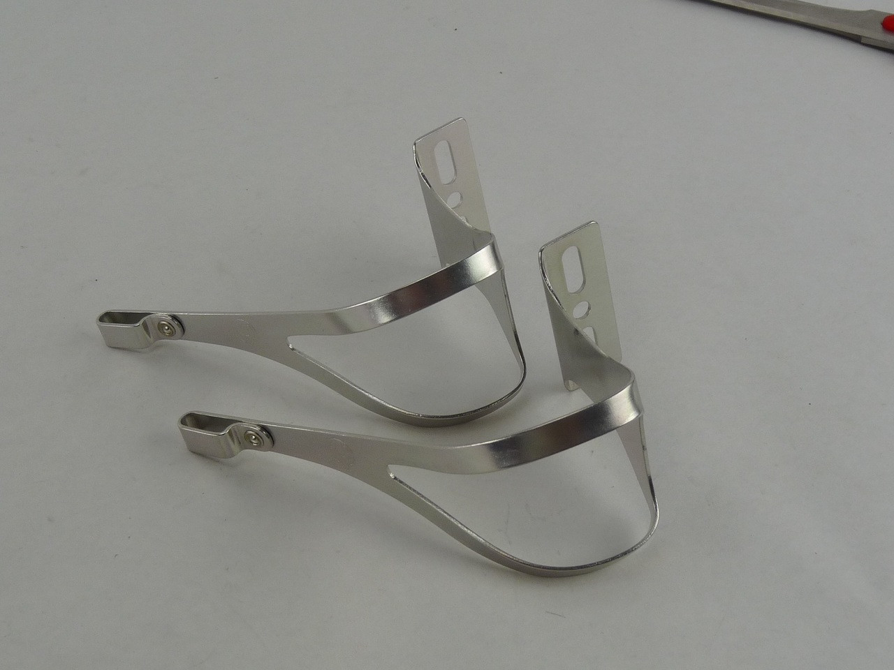 NOS Cinelli Black Alloy Toe Clips Size Large NEW Old Stock in Box