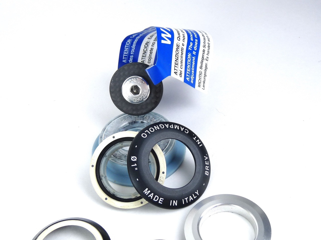 """New Campagnolo Record Headset Hiddenset 1 1//8/"""" Top /& Bottom Bearings HS-HD110"""