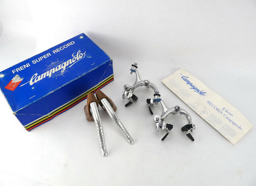 Campagnolo Super Record Brake set 49mm reach Recessed Vintage Bicycle NEW NOS