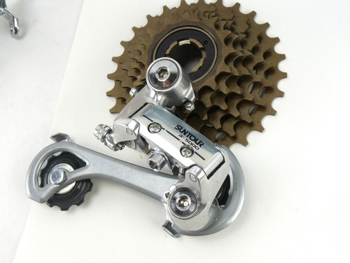 Suntour 5000 Mountain Bike Group Vintage Derailleur Shifters Chain Freewheel NOS