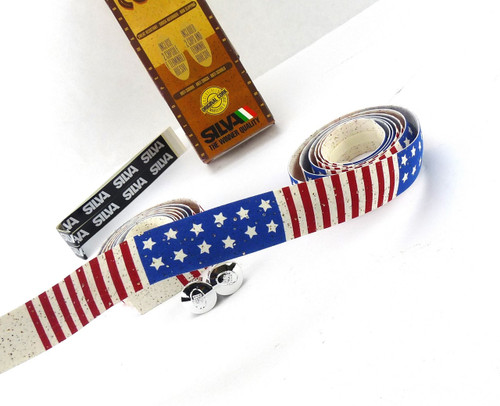 handlebar tape cork usa flag Silva handlebar accessorie