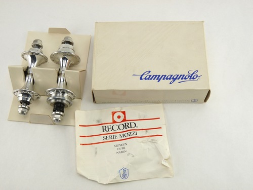 NOS Campagnolo C Record Track Hub SET 28h small flange W lockring