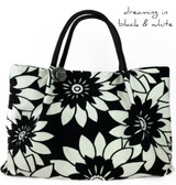 Lola Tote Black and White Take me with you!