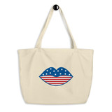 Large organic tote bag | LOVE USA
