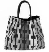 Zigzag Velvet Shades of Grey | LOLA Tote