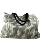Filippa Piuggi Strands Jacquard Charcoal Lola Tote Handbag