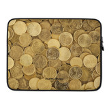 Laptop Sleeve   GOLD COINS