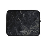 Laptop Sleeve | DARK BLACK MARBLE