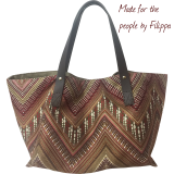 This beautiful Aztec pattern easy to wear with any style with a laid-back elegance, from lunch to shopping to work. The fabric body, leather handles and two leather pockets one that is perfect for any size cell phone. The Wendy is lightweight and versatile a pleasure to carry and a stylish companion for any season.  #fiphandbags