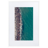 Matte Paper Framed Poster With Mat | SHORE LINE